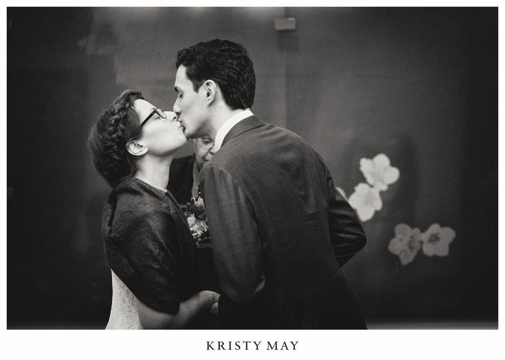 Kiss at NYC City Hall Ceremony