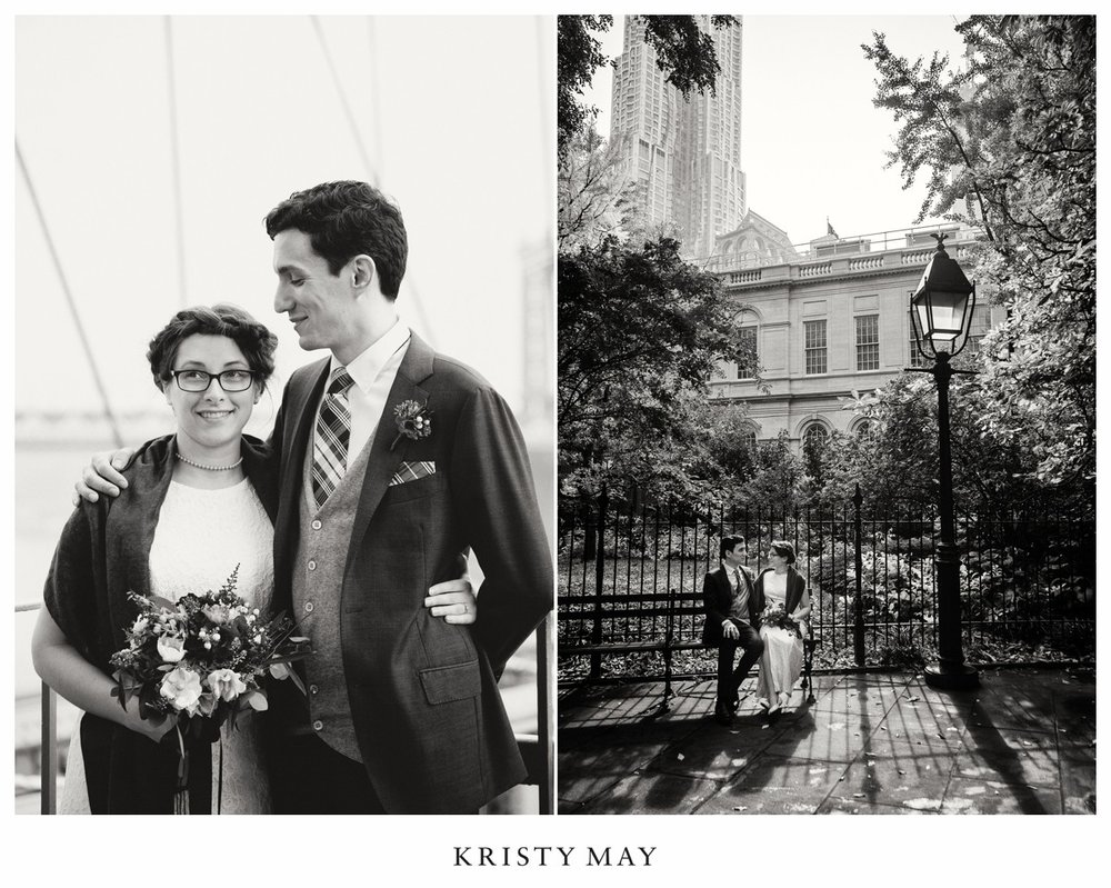 NYC City Hall Wedding Portraits