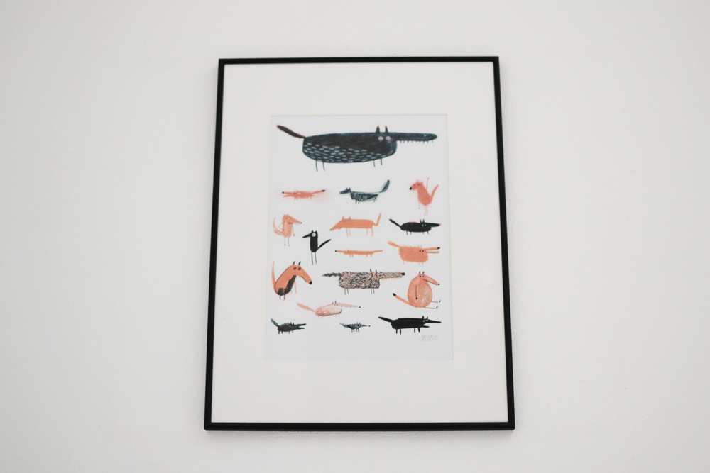Favourite foxes+wolves print by the talented Erica Salcedo.