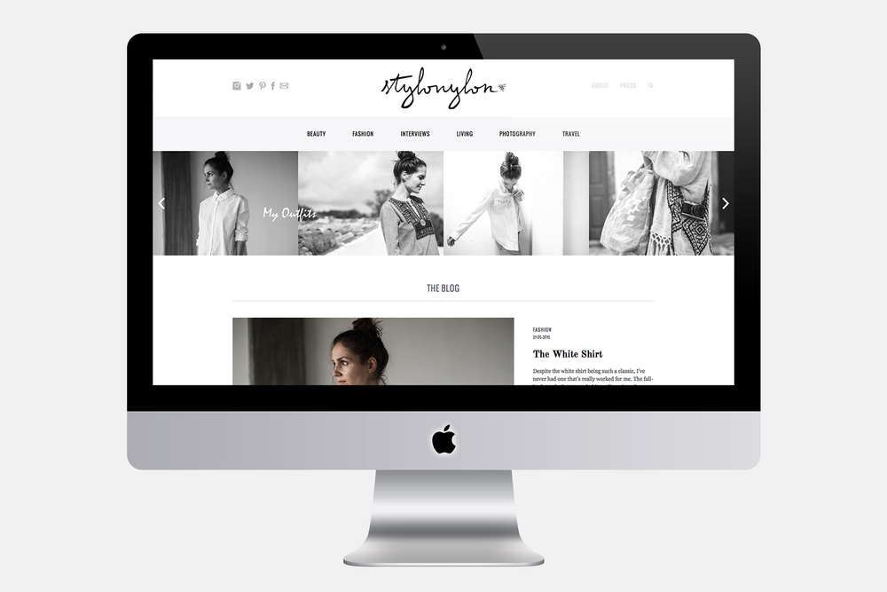 Stylonylon | Web design, logo redesign