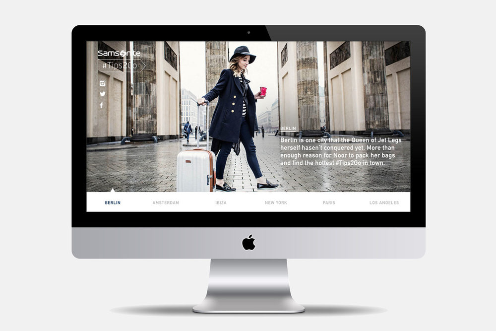 Samsonite | Web design