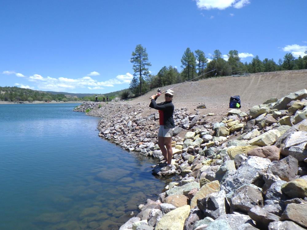 Fishing at lake roberts