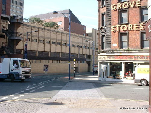 Withy Grove view of the housing, 2002 (Manchester Libraries)