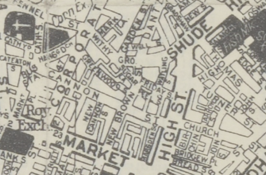 Excerpt from Geographica map, 1960.