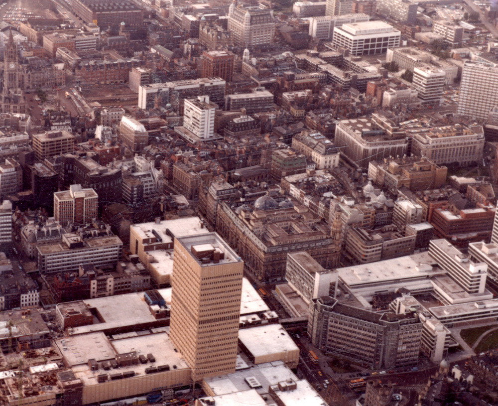 Under construction, 1980. Courtesy of Manchester Libraries, Information and Archives and Aerofilms (copyright unknown)