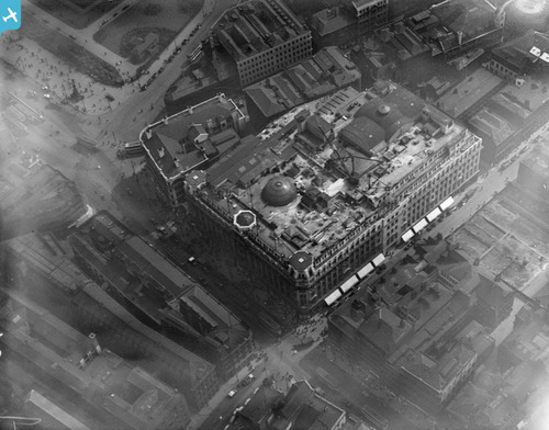 Aerial shot of Lewis's from 1927 courtesy of Britain From Above
