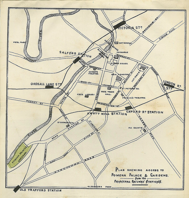 Pomona Gardens Plan. Image Manchester Libraries (ref. 791 G24/A)