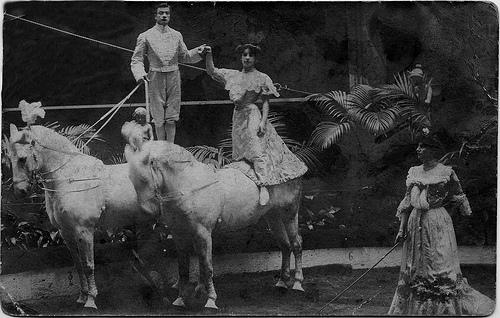 La Belle Duchess on horseback