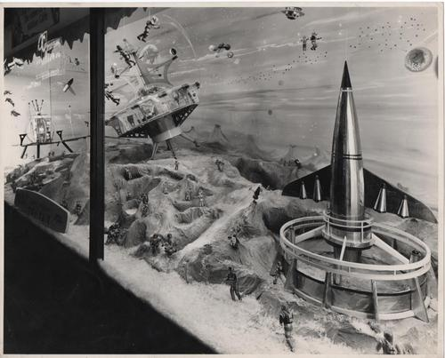 Christmas atrium and window displays from 1950s by Roy Tootell