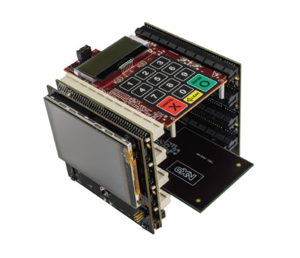K81 based Tower System including option LCD and card reader modules (Image provided by NXP)