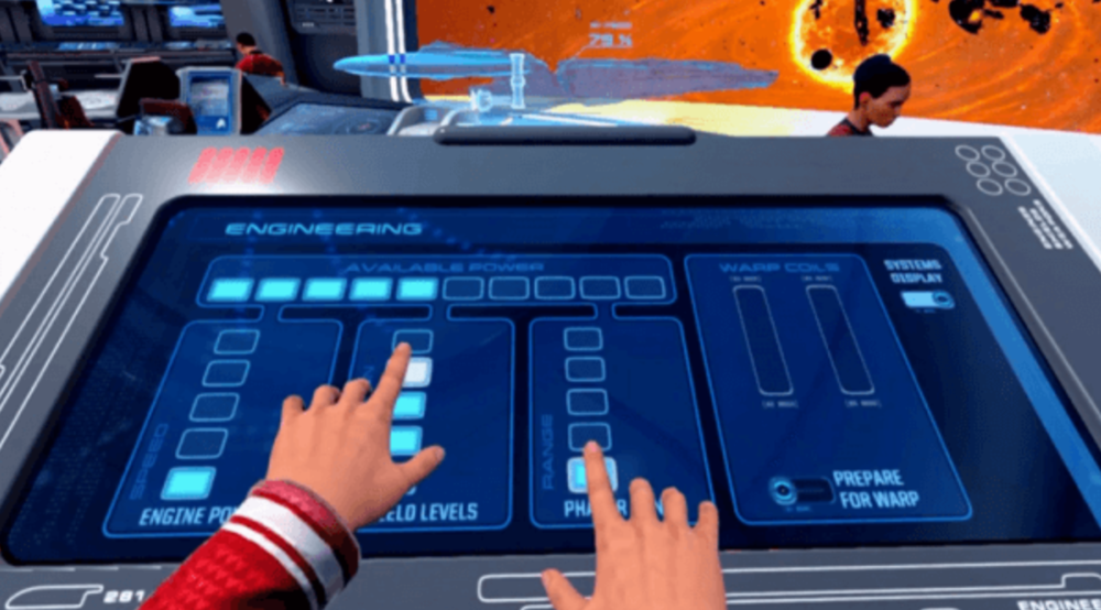 Virtual Hands in Star Trek: Bridge Crew (Ubisoft)