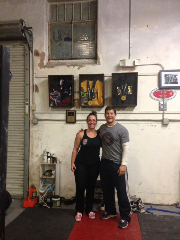 Coach Sheppard with Matt after an internship at his facility within Red Stick CrossFit in Baton Rouge   in early 2014