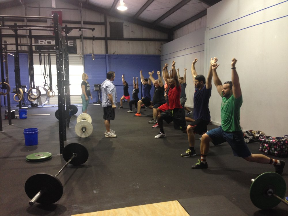 Participants at the 2016 USAW Sports Performance Course hosted by Mississippi Barbell.