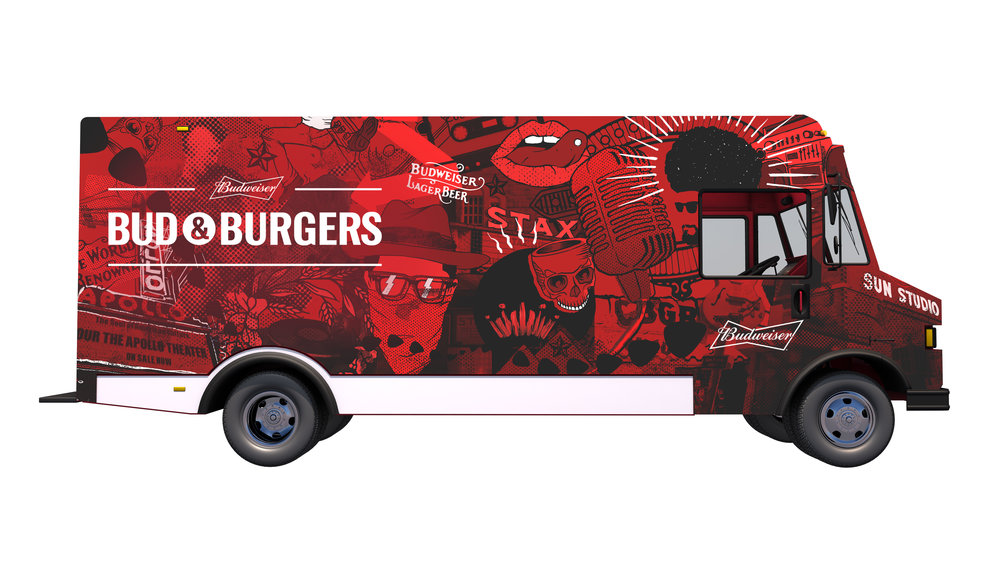 Food truck concept illustration