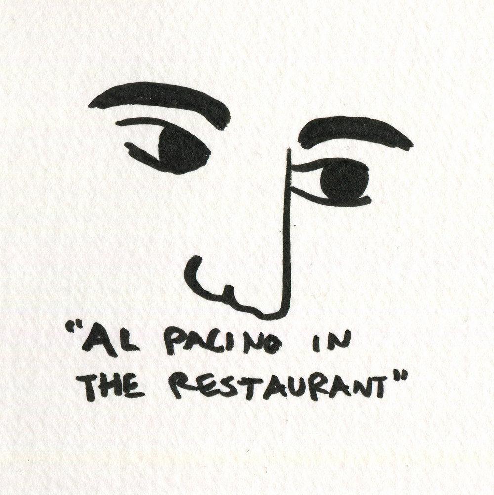 Al Pacino in the Restaurant