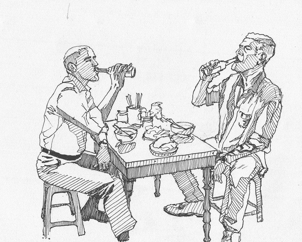 Obama and Bourdain