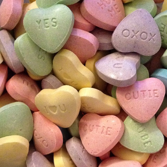 Happy Valentines Day from Teocalli! #candyhearts #xoxo #valentinesday