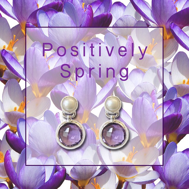 Spring has sprung and what better way to celebrate then with a pair of pretty amethyst and pearl earrings! Visit our website to purchase! #spring #musthave #fridayfavorites #amethyst #pearl #earrings