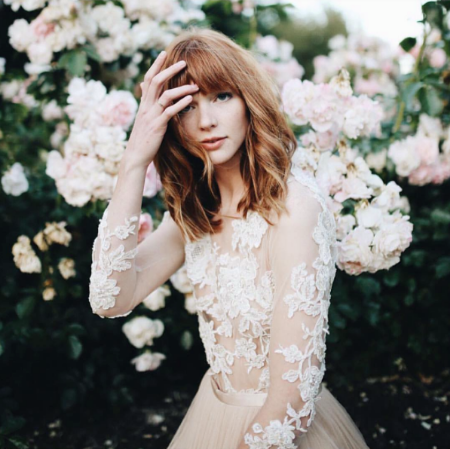Flowers and Stunning Emily Riggs Lace- the absolute dream. Photograph by Mandi Nelson Photography