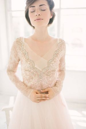 Ethereal Wedding Dress Dreams from Ca\'Rousel —Bespoke Hand painted ...