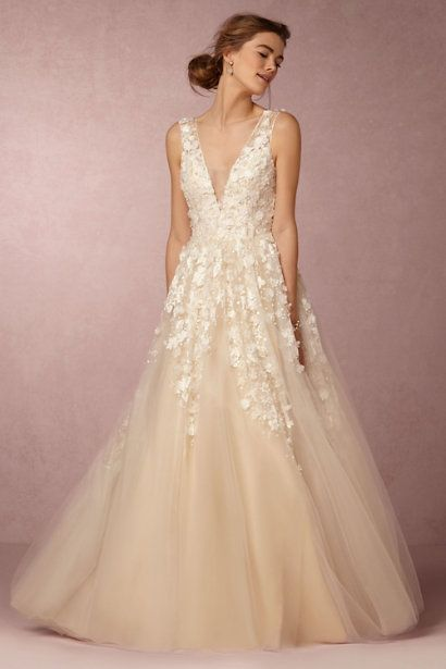 BHLDN applique wedding dress