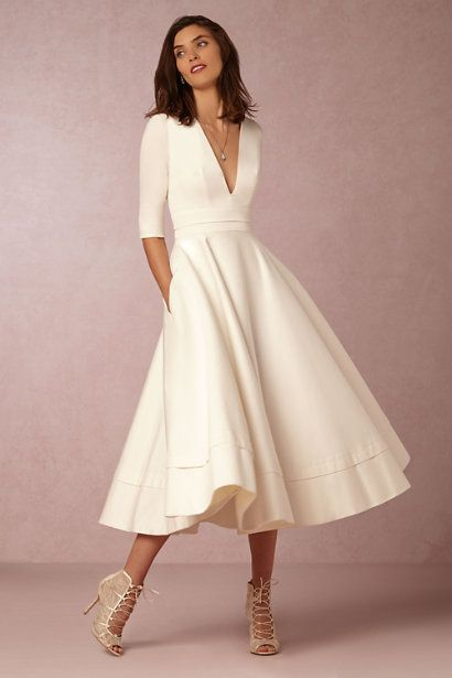 BHLDN short wedding dress