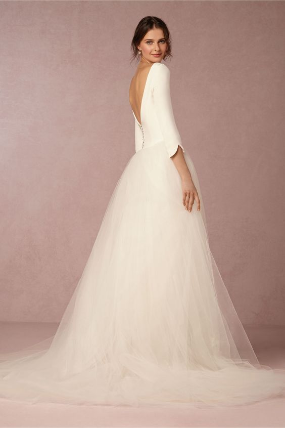 Tulle wedding dress BHLDN