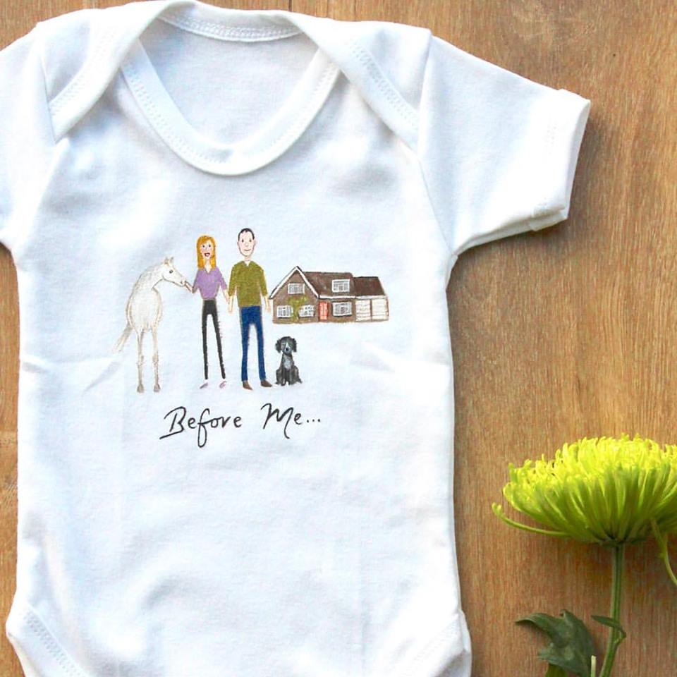 Before me personalised baby grow