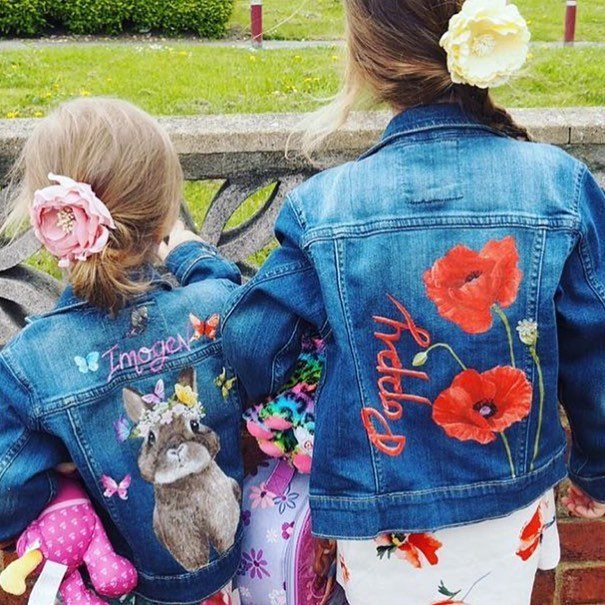Customised denim jackets