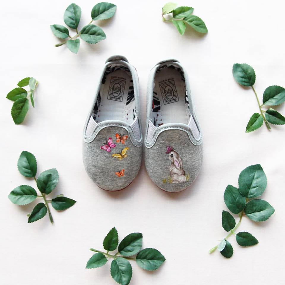 rabbit print shoes
