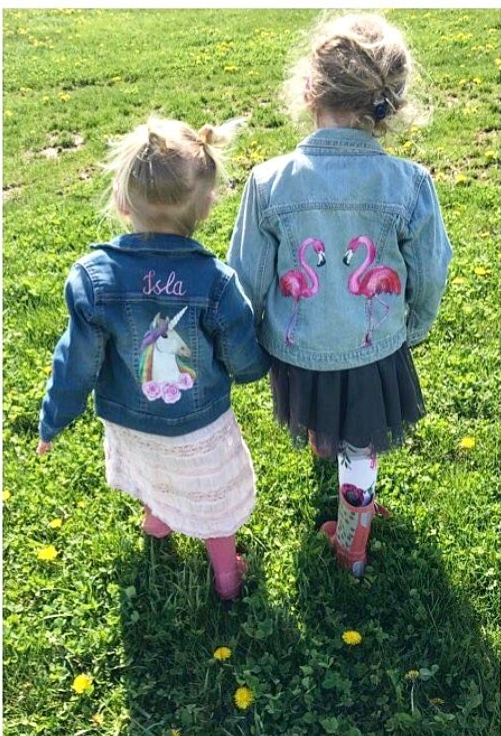 flamingo and unicorn jacket