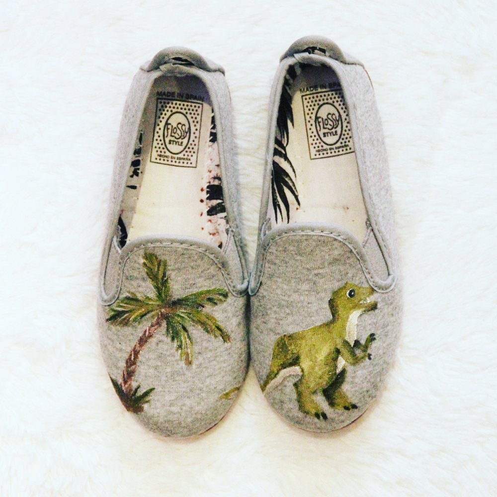 dinosaur children print shoes