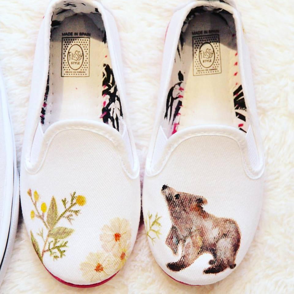baby bear children print shoes