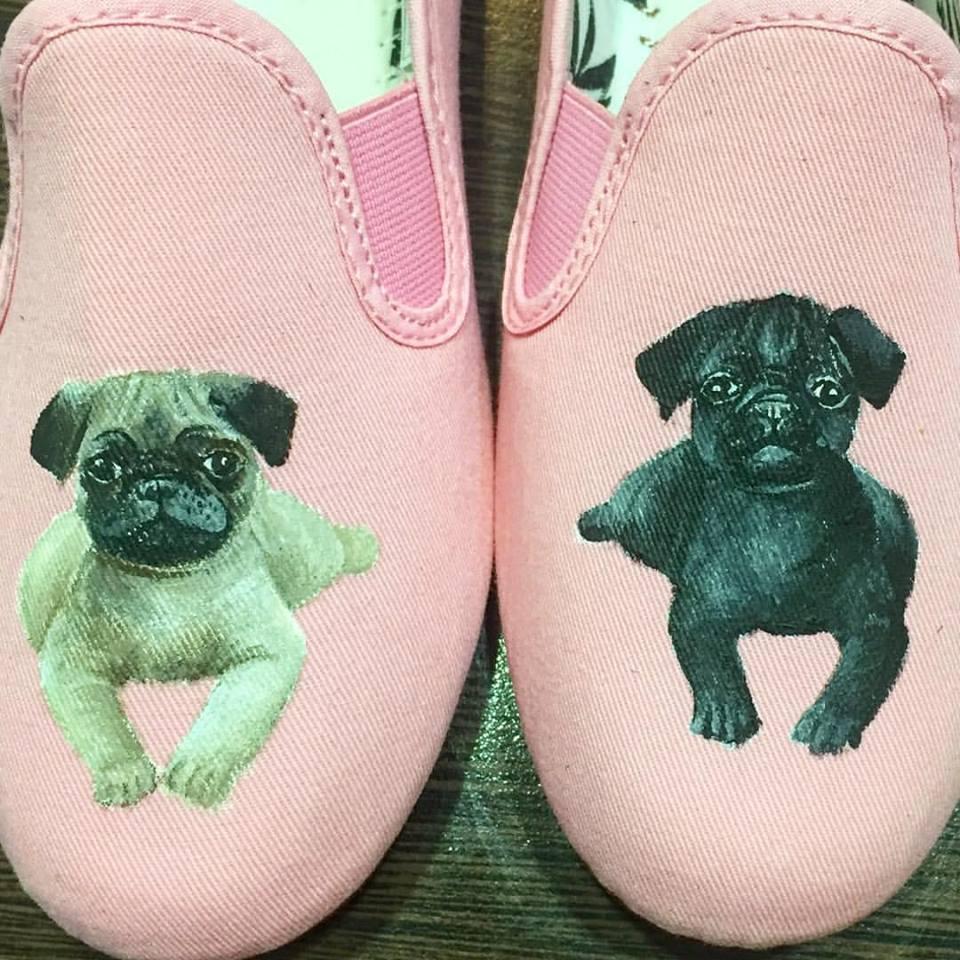 pug print shoes