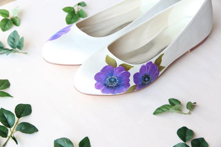 Flat Wedding Shoes- Design your own with Elizabeth Rose. —Bespoke ...
