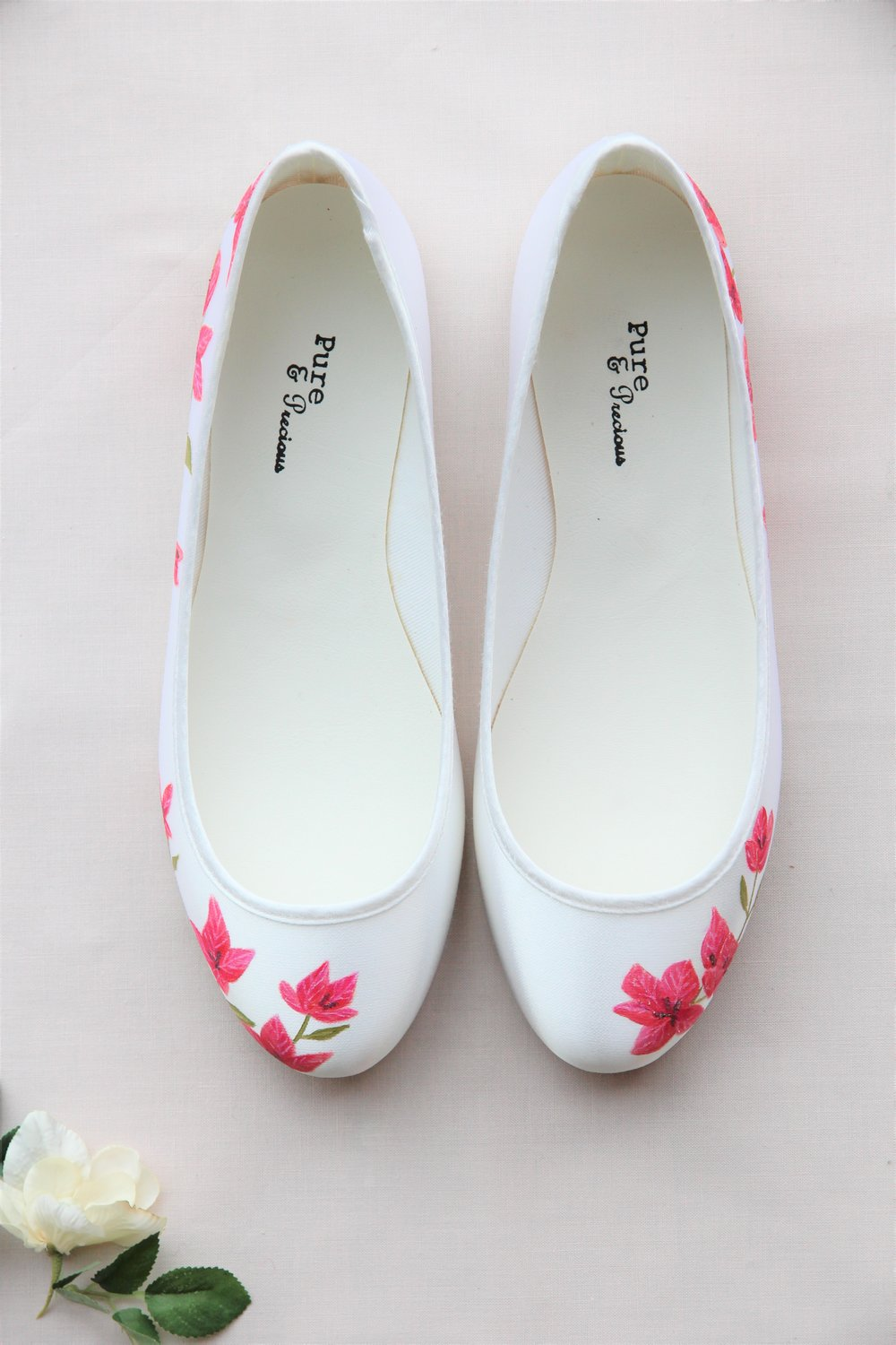 7fb3177c8c5d These white converse style wedding shoes were hand-painted with white  roses