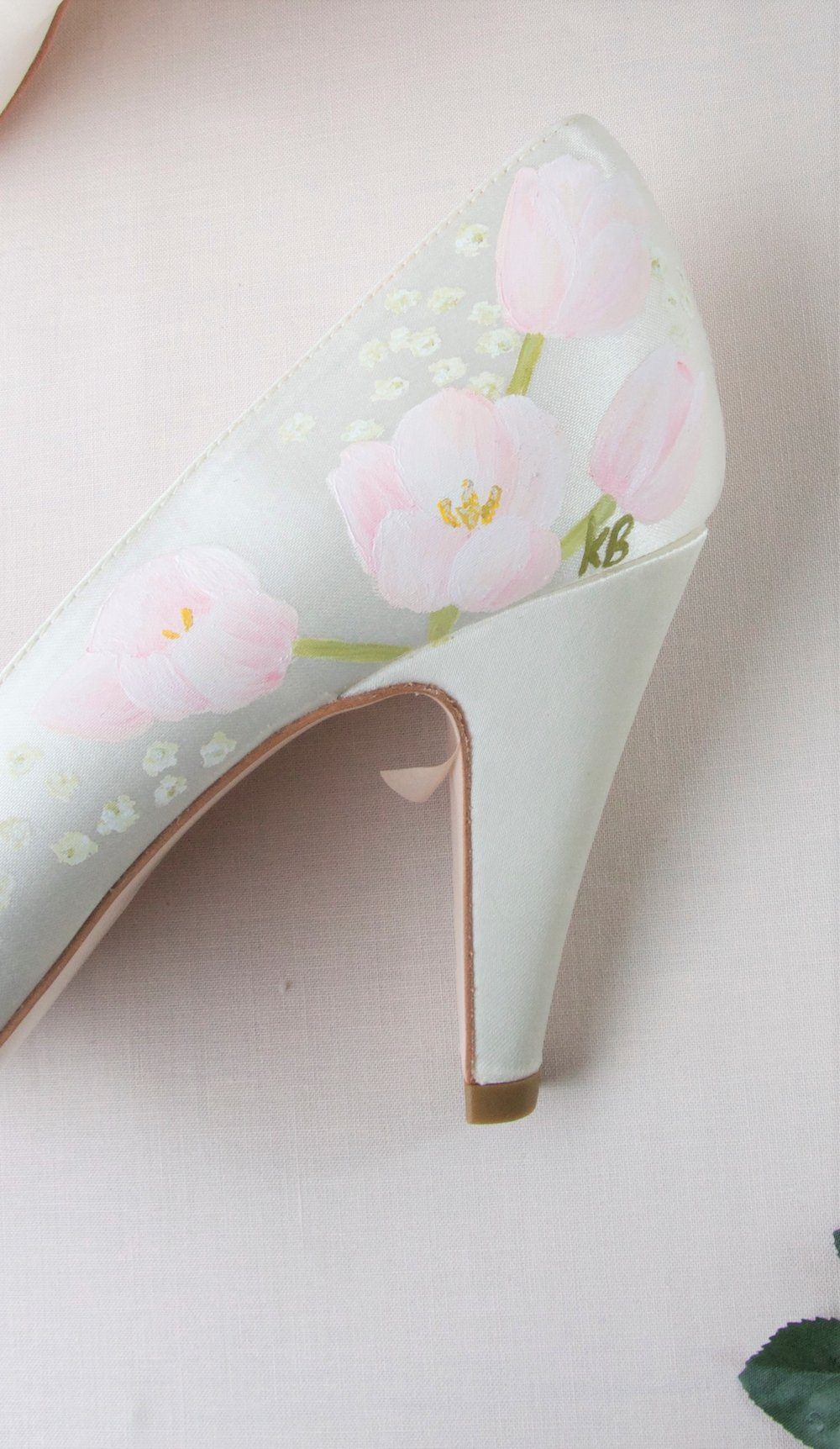 Tulip personalised initial shoes