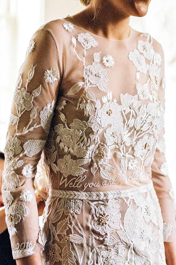 Hermione De Paula personalised wedding dress