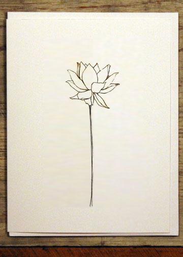 Blooming Lotus Flower Notecard Jq Loves U