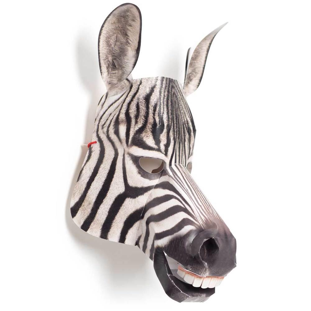Zebra, zusammengebaut, Seitenansicht