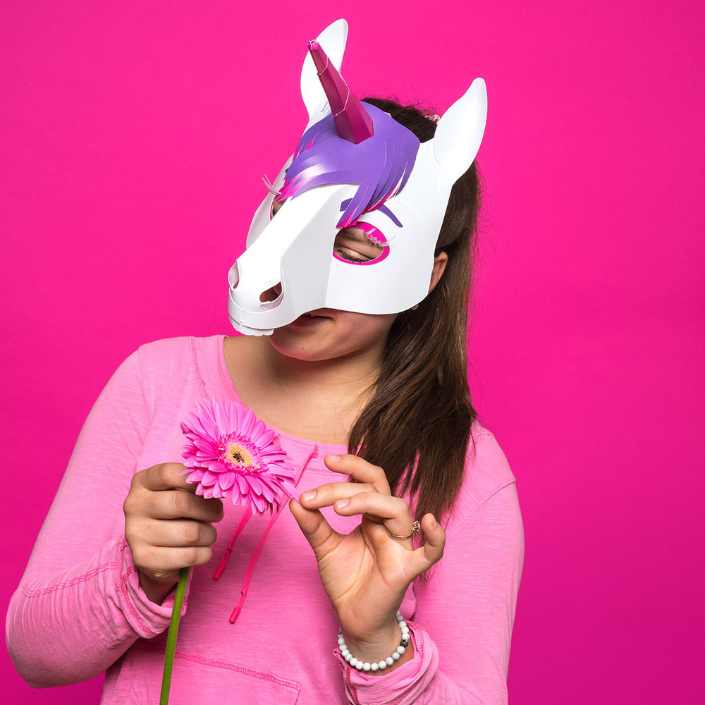 Einhornmaske  PINKABOO    Hier kaufen   →