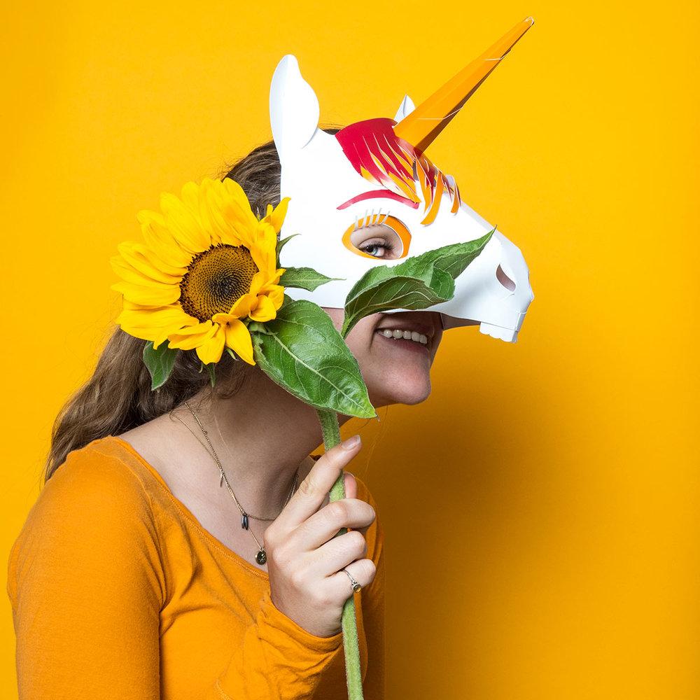 Einhornmaske FIREBALL Hier kaufen→