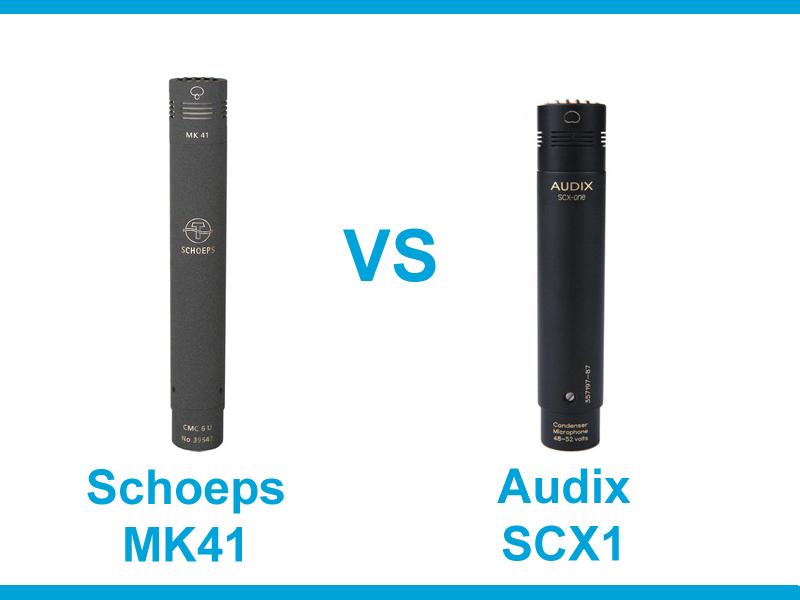 Schoeps MK41 vs. Audix SCX1