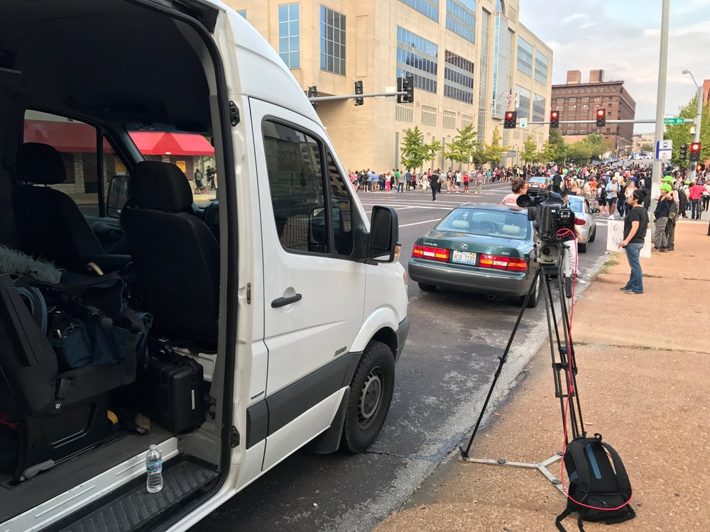 NBC News - We utilize our LiveU for a lot of breaking news stories.  In this case, we spent 5 days in St. Louis covering the protests surrounding police officer Jason Stockley's acquittal.  Stockley shot and killed 24-year-old Anthony Lamar Smith.