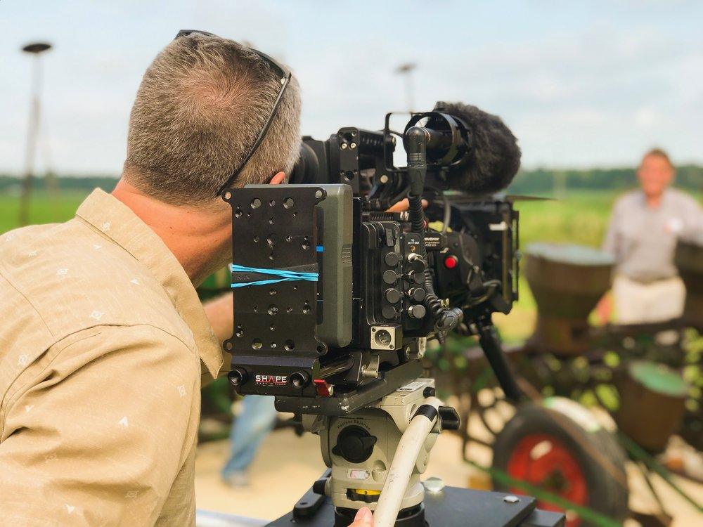 On-Location with the Sony PMW-F5 mounted to a  Dana-Dolly .
