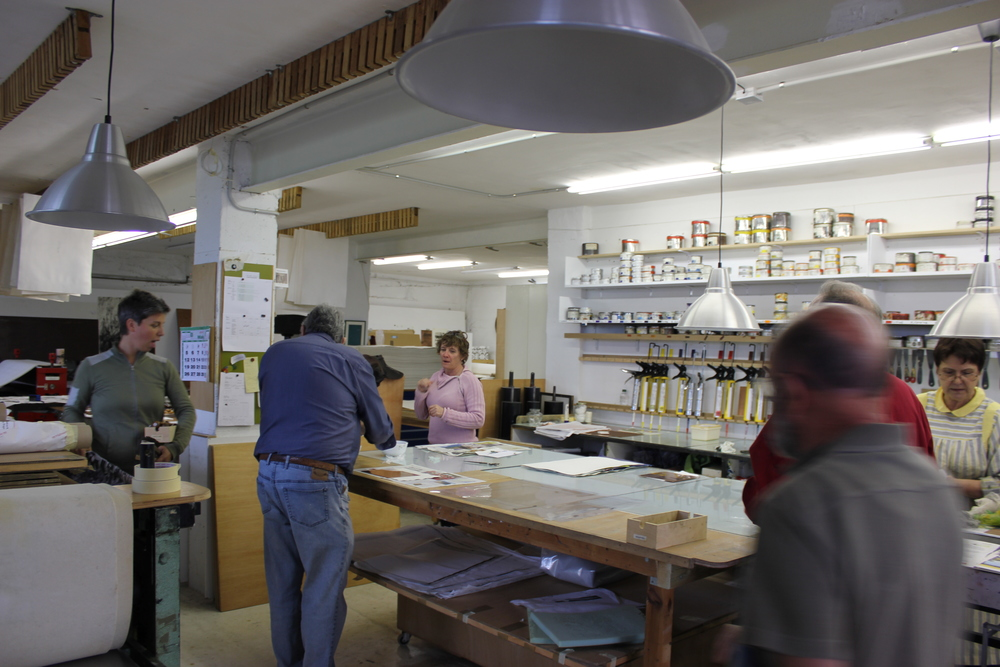 photo by Hillary Clary                      busy day in the shop!