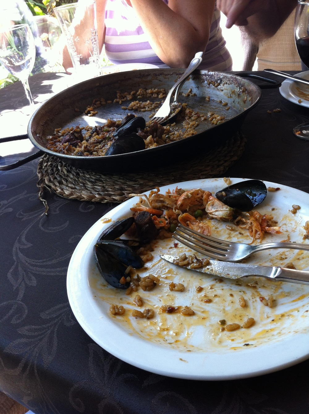 Paella! Too excited to take a before picture.