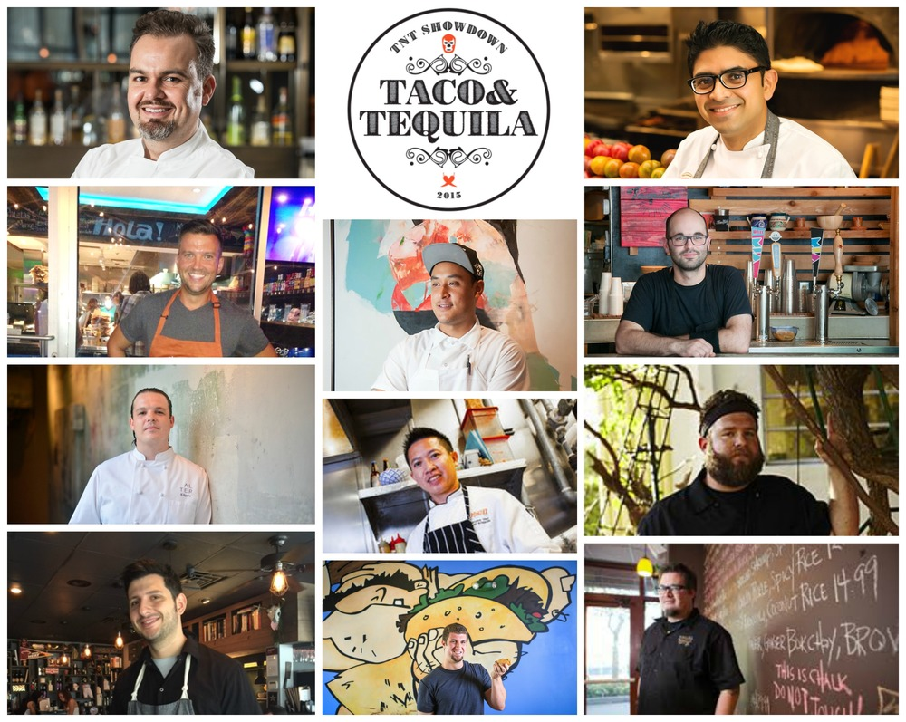 From Upper right: Chef Niven Patel, Chef Steve Santana, Chef Jeremiah Bullfrog, Chef Richard Hales, In Center: Brett Chiavari, Chef Bee, Chef Alex Chang, From Bottom Left:Chef Giorgio Rapicavoli, Chef Brad Kilgore, Chef Todd Erickson, Chef Aaron Brooks.