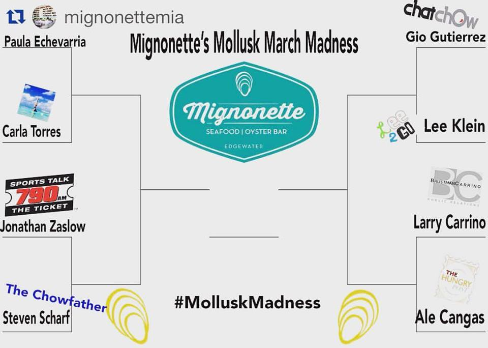 March Madness Mignonette Oyster Slurp Fest