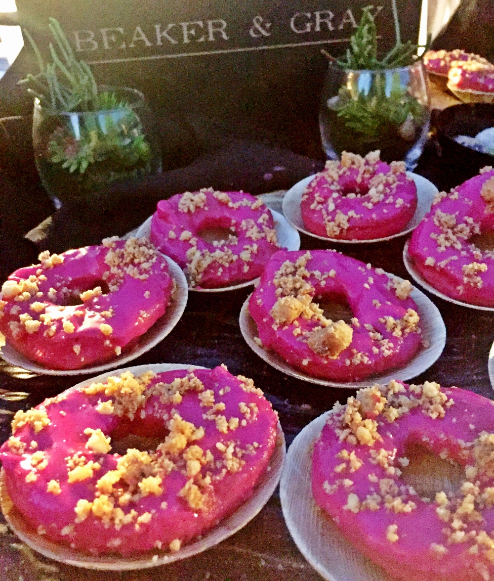 Beaker & Gray Beet Donuts